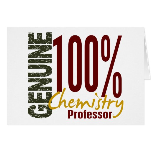 Echter Chemie-Professor Karten