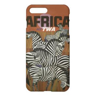Echter Zebra-Vintage Afrika-Reise iPhone 8 Plus/7 Plus Hülle