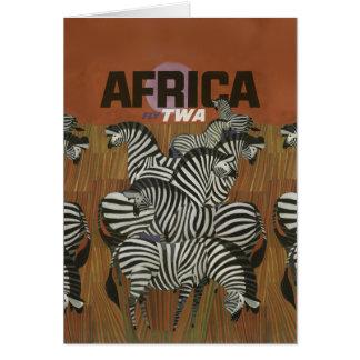 Echter Zebra-Vintage Plakat-Afrika-Reise Karte