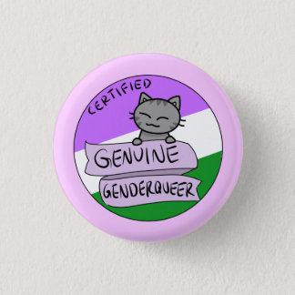Echtes Genderqueer Runder Button 2,5 Cm