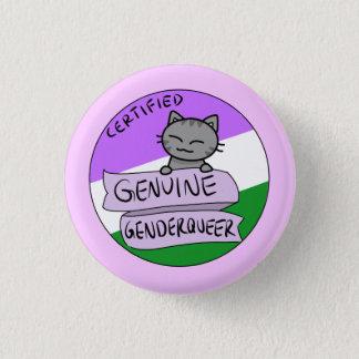 Echtes Genderqueer Runder Button 3,2 Cm