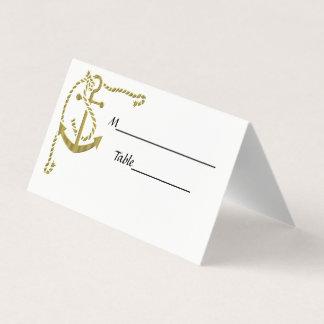 Eckanker mit Seil Escrt Karten-Gold Platzkarte