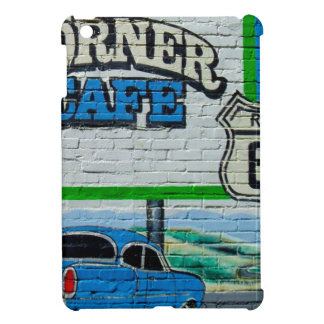Eckcafé-Wand des Weg-66 iPad Mini Hülle