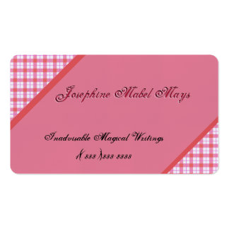 Ecke verschönert mit rosa Gingham Visitenkarte
