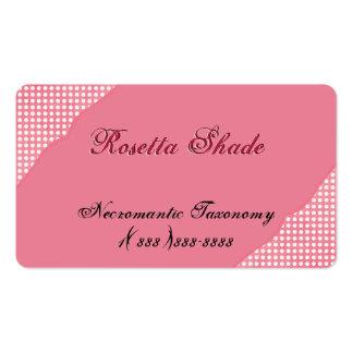 Ecke verschönert mit weißen Tupfen auf Rosa Visitenkartenvorlage