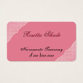 Ecke verschönert mit weißen Tupfen auf Rosa Visitenkarten