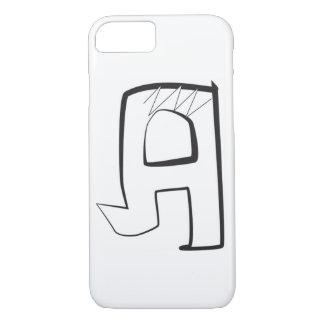 "Eckiger Artbuchstabe ""A "" der Blasen-Graffiti iPhone 8/7 Hülle"