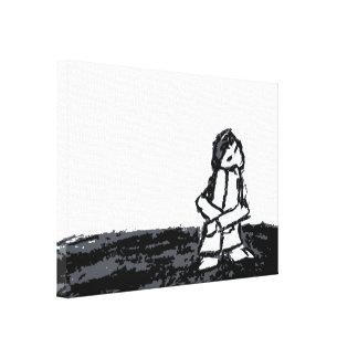 Eckkind Gespannter Galerie Druck