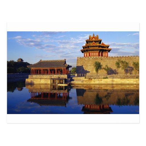 Eckturm der verbotenen Stadt, Peking, China Postkarten