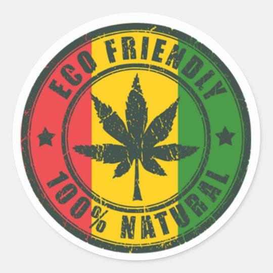 Eco Friendly - 100% Natural - Sticker