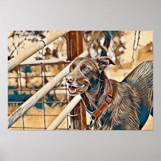 EcoMarlee Maskottchen am Viehhofkunstplakat Poster