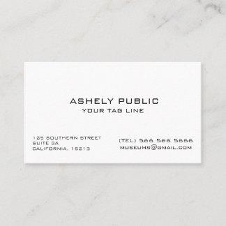 Ecru weiße unbedeutende Visitenkarte