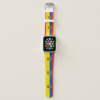 Ecuador-Flagge Apple Watch Armband