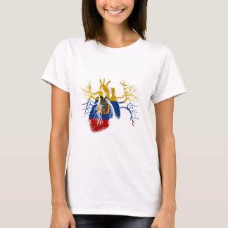 Ecuador-Flagge im wirklichen Herzen T-Shirt