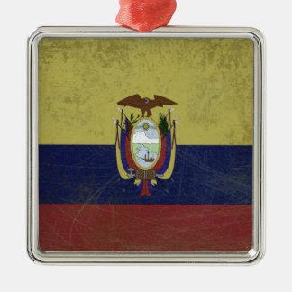 Ecuador Silbernes Ornament