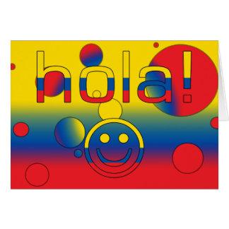 Ecuadorian-Geschenke: Hallo/Hola + Smiley Karte
