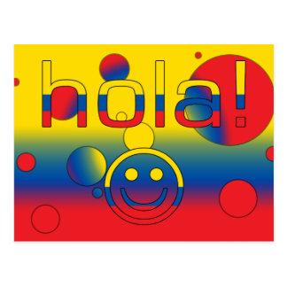 Ecuadorian-Geschenke: Hallo/Hola + Smiley Postkarte