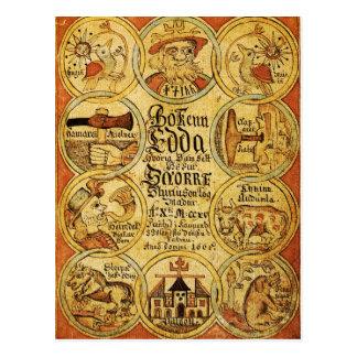 Edda-Skandinavier-Mythologie Postkarte
