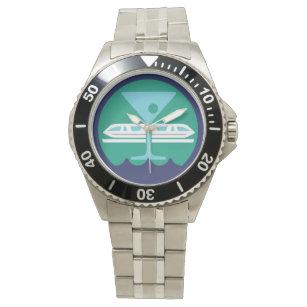 Edelstahl-Bay See-Gesellschafts-Uhr Uhr