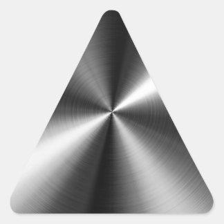 Edelstahl Dreiecks-Aufkleber