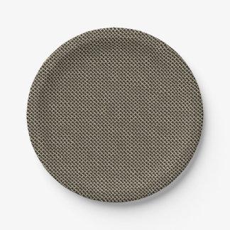 Edelstahl-Maschendraht-Muster Pappteller