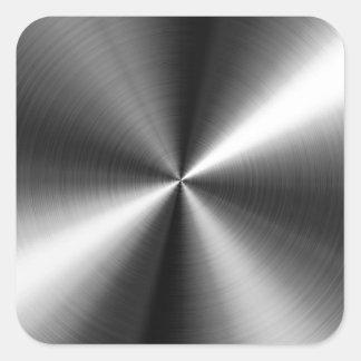 Edelstahl Quadrat-Aufkleber