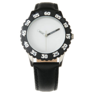 Edelstahl-Schwarz-Uhr, justierbare Einfassung Uhr
