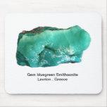 Edelstein Smithsonite von Lavrion, Griechenland Mauspads