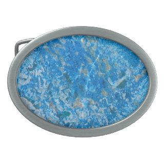 Edelstein-Stein-Muster, blauer Granit Ovale Gürtelschnallen