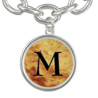 Edelstein-Stein-Muster, Goldtiger-Auge u. Charm Armband