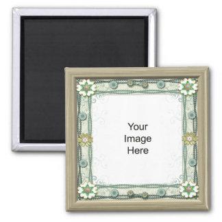Edelstein-und Perlen-FotoTemp, aß Quadratischer Magnet