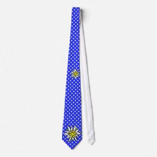 Edelweiss auf Blau Personalisierte Krawatte