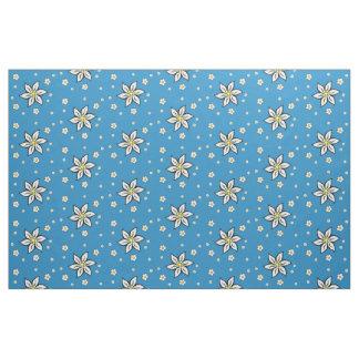 Edelweiss auf Blau Stoff