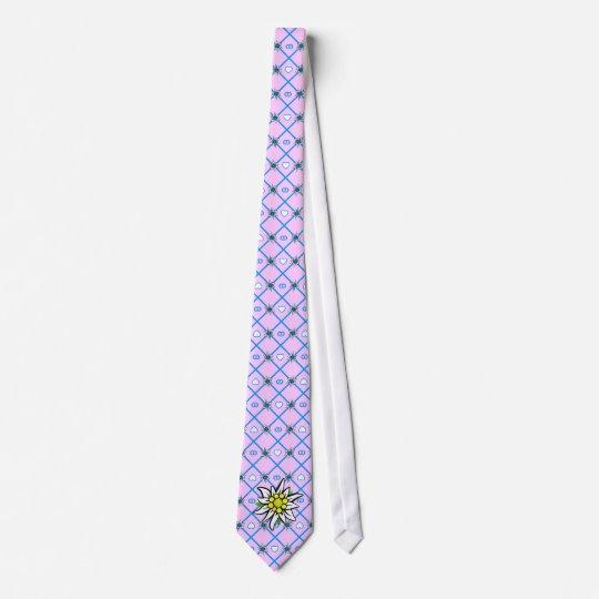 Edelweiss auf blau weiss gelb individuelle krawatten