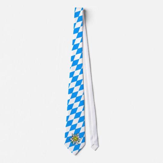 Edelweiss auf Rauten Krawatte