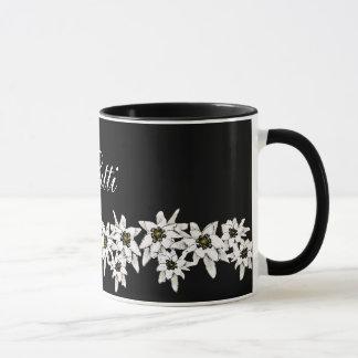Edelweiss Blumen-Tasse Tasse