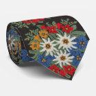 Edelweiss Schweizer alpine Blume Krawatte