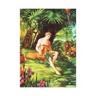 Eden Adam im Garten Leinwanddruck