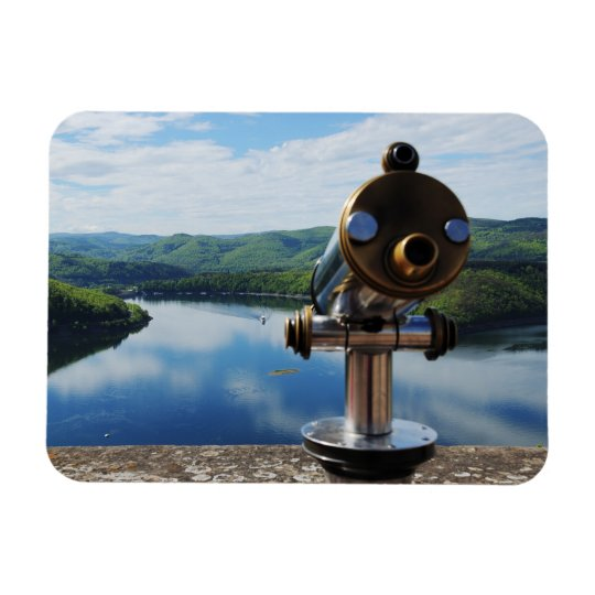 Edersee Aussicht von Schloß Waldeck Magnet