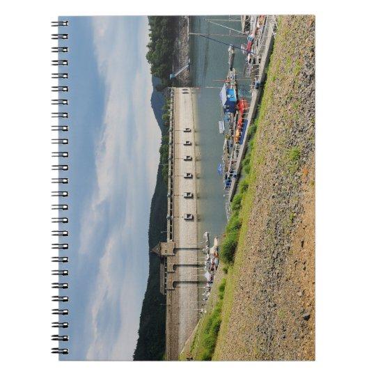 Edersee Staumauer bei Niedrigwasser Notizblock