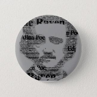 Edgar Allan Poe Bottom Runder Button 5,7 Cm