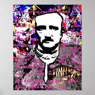 Edgar Allan Poe-Floh-Mond MondVoynich Manuskript Poster