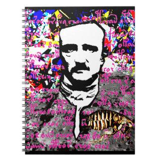 Edgar Allan Poe-Floh-Mond MondVoynich Manuskript Spiral Notizblock