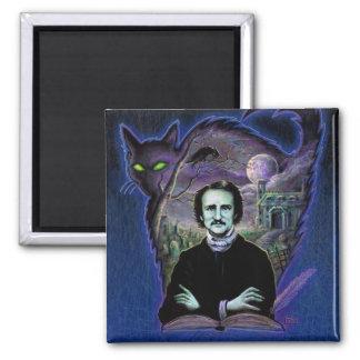 Edgar Allan Poe gotisch Quadratischer Magnet