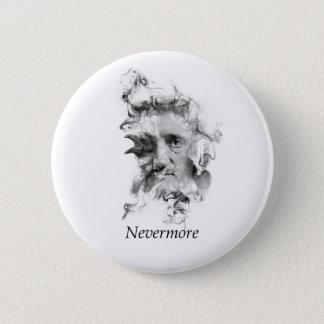 Edgar Allan Poe im Rauche mit Raben - nie wieder Runder Button 5,7 Cm