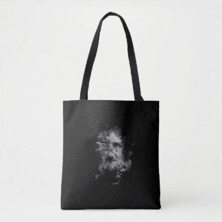 Edgar Allan Poe im Rauche mit Raben - nie wieder Tasche