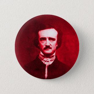 Edgar Allan Poe im Rot Runder Button 5,1 Cm