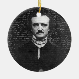 Edgar Allan Poe Keramik Ornament
