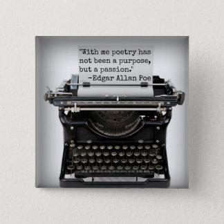 Edgar Allan Poe-Knopf Quadratischer Button 5,1 Cm