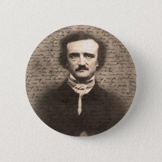 Edgar Allan Poe Runder Button 5,7 Cm